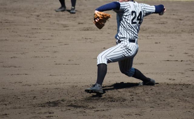 野球肩の写真