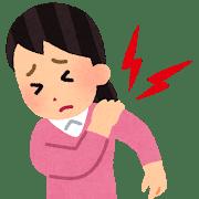 肩の痛みの女性のイラスト